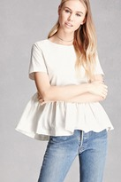 Forever 21 Back-Bow Peplum Top