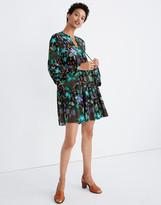 Madewell Warm Silk Garden Tiered Dress