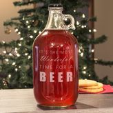"""Cathy's Concepts Cathys concepts It's The Most Wonderful Time For A Beer"""" Glass Growler"""