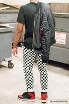 21men 21 MEN Checker Print Skinny Jeans
