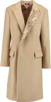 DKNY Embellished wool-blend coat