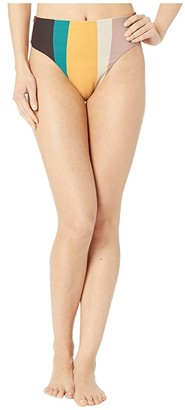O'Neill Sapa Stripe High-Waist Bottoms (Mauve) Women's Swimwear