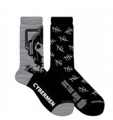 Doctor Who Cyberman Men's Crew Socks - 2 Pack
