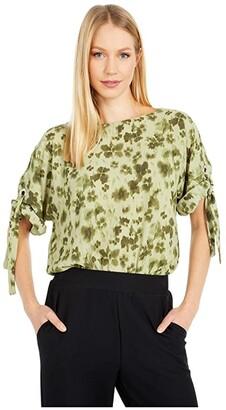 MICHAEL Michael Kors Mega Poppy Ikat Kimono (Light Sage) Women's Clothing