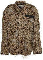 R 13 Shredded Trim Jacket