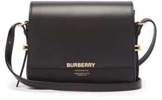 Burberry Grace Small Leather Shoulder Bag - Womens - Black