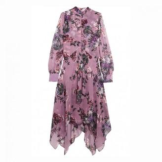 Erdem Purple Silk Dress for Women