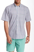 Tailorbyrd Plaid Short Sleeve Classic Fit Shirt
