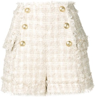 Balmain button detail shorts