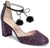 Kate Spade Women's Abigail Glitter Pompom Pump