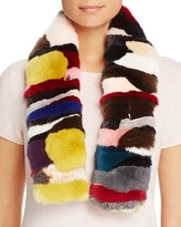 Giorgio Salvini Multi Color Rabbit Fur Scarf