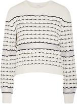 Derek Lam 10 Crosby Chiffon-trimmed cotton sweater