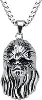 Star Wars FINE JEWELRY Chewbacca Mens 3D Stainless Steel Pendant Necklace