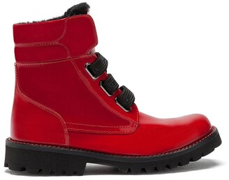 Dolce & Gabbana Kids Patent Leather Ankle Boots