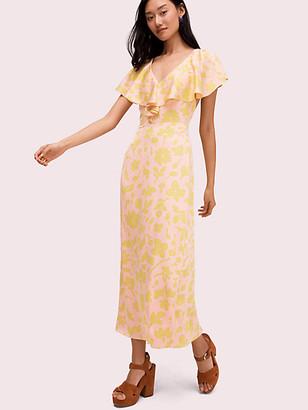 Kate Spade Splash Satin Midi Dress