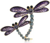 Napier Boxed Gold-Tone and Dragonfly Brooches and Pin