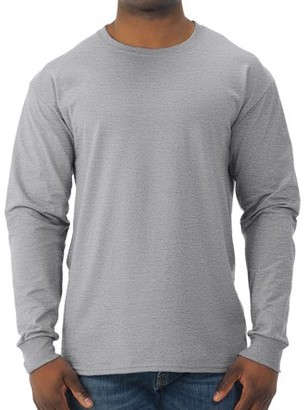 Jerzees Men's and Big Men's Moisture Wicking Long Sleeve Crew T-Shirt, Up To Size 3X