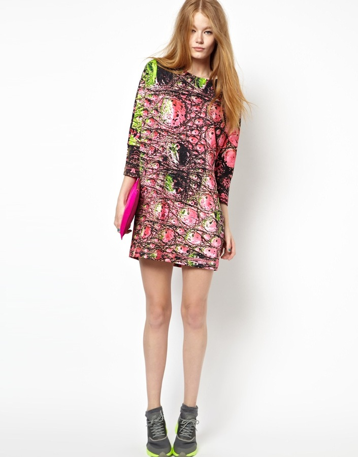 Emma Cook Dino Skin Sweat Dress in Pink