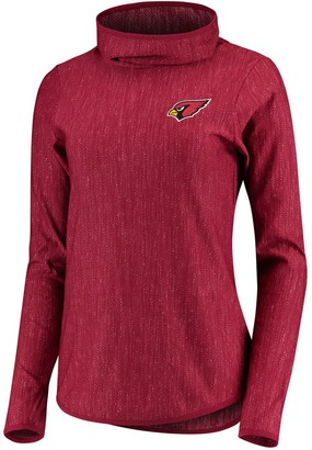 Antigua Women's Heathered Cardinal Arizona Cardinals Equalizer Cowl Neck Pullover Sweatshirt