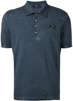 Fay logo patch polo shirt