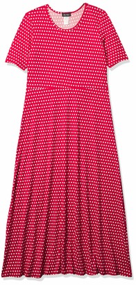 Star Vixen Women's Modest Soft Brushed DTY Knit Elbow Sleeve Maxidress