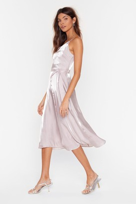 Nasty Gal Womens Outshine the Competition Belted Midi Dress - Mocha
