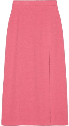 Gucci Side-Slit Longline Skirt