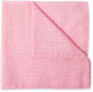 Anderson & Sheppard Polka-Dot Cotton Pocket Square