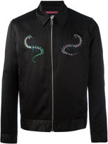 Paul Smith patches bomber jacket - men - Rayon/Cotton/Wool - L