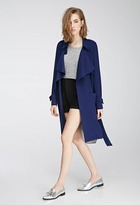 LOVE21 LOVE 21 Belted Crepe Trench Coat