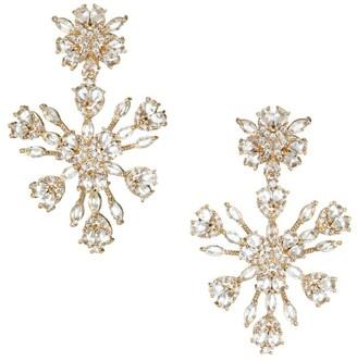 Fallon Monarch Snowflake Chandelier Earrings
