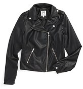 Milly Minis Faux Leather Moto Jacket (Big Girls)