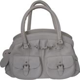 Christian Dior Ecru Leather Handbag