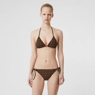 Burberry Monogram Print Triangle Bikini