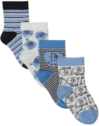M&Co Elephant socks four pack