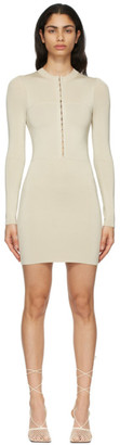 Dion Lee Beige Open Neck Mini Dress