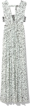 Proenza Schouler Printed Maxi Dress in Black/Sky Blue Inky Leopard