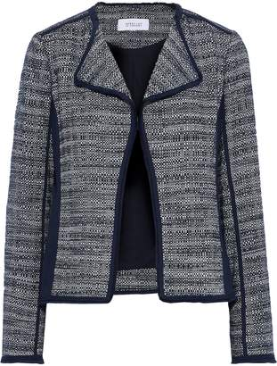 Derek Lam 10 Crosby Crepe-paneled Frayed Cotton-tweed Jacket