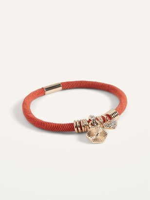 Old Navy Textile-Cord Charm Bracelet for Women