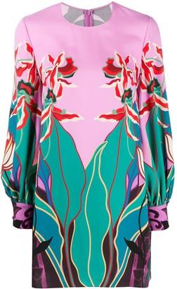 Valentino Orchid Ramage print mini dress