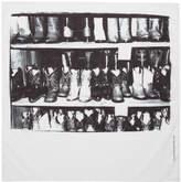 Calvin Klein White Boot Print Bandana Scarf