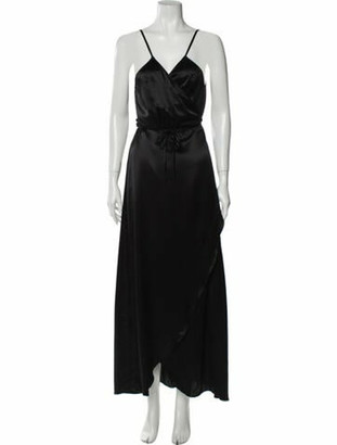 Reformation Getty Long Dress Black