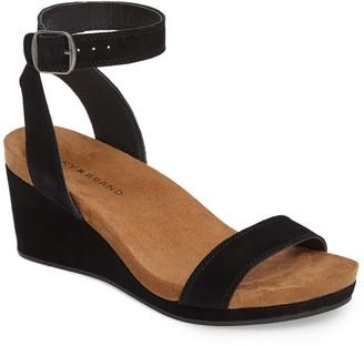 Lucky Brand Karston Ankle Strap Wedge Sandal