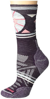 Smartwool PhD(r) Outdoor Light Pattern Crew (Nostalgia Rose) Women's Crew Cut Socks Shoes