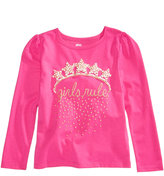 Epic Threads Hero Kids by Mix and Match Girls Rule Graphic-Print Shirt, Toddler Girls (2T-5T), Created for Macy's