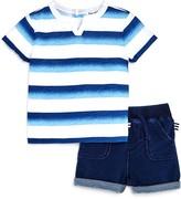 Splendid Boys' Ombre Stripe Tee & Shorts Set