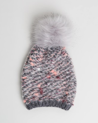 Morgan & Taylor Girl's Grey Beanies - Prue Mini Beanie - Kids - Size One Size at The Iconic