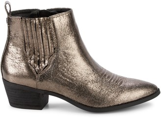 Sam Edelman Hartford Metallic Western Booties