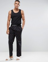 Polo Ralph Lauren Lounge Pants All Over Player Regular Fit In Black