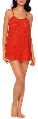 Smart & Sexy Women's Lace & Mesh Babydoll Nightie and Thong Panty Lingerie Set